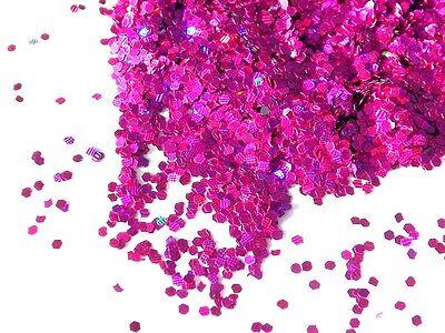 Craft HEXAGON GLITTER 1mm Iredescent & Rainbow Holographic Sparkling Glitter