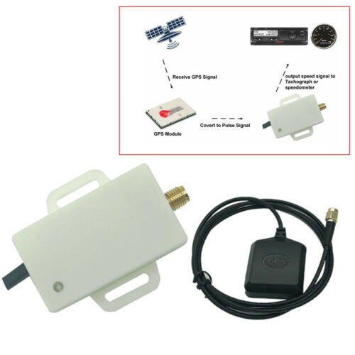 White Mini Size Motorcycle GPS Speedometer Sender Sensor Adapter Kit Shockproof