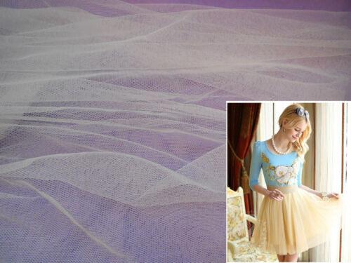 vendus par 0.5 mètre Ivoire doux tulle tissu pour robe making diy 160cm de large