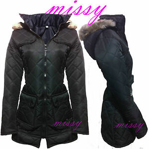 GIRLS BLACK COAT JACKET Quilted HOODED SCHOOL CLOTHING AGE 5 6 7 8 ...