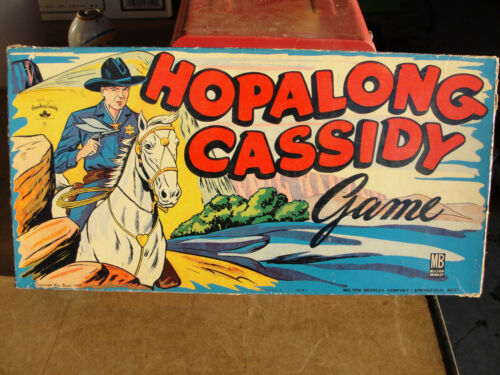 1950s MILTON BRADLEY HOPALONG CASSIDY BOARD GAME COMPLETE