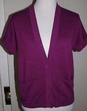 GAP Size XS Sweater Vest Peony Speckle Knit Dolman Sleeve Pocket Cardigan Women