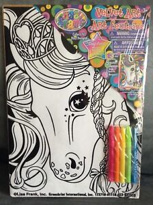 LISA FRANK VELVET ART FOR AGES 3+ UNICORN WITH 5 MINI MARKERS ...
