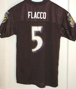 55b71ebc JOE FLACCO Baltimore Ravens Jersey REEBOK NFL Players FOOTBALL Ex ...