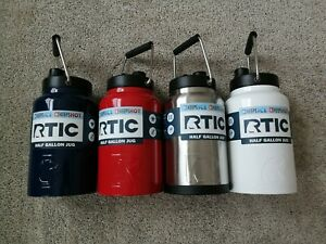 Details about NEW RTIC Half Gallon Jug - Black Navy Red Stainless White
