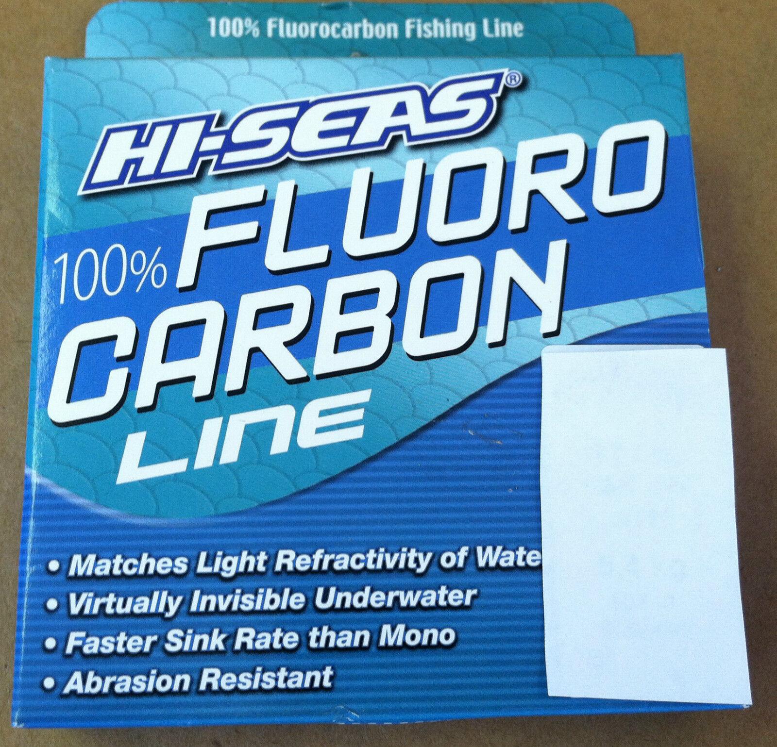 Hi-seas 100% fluorocarbono Line-Transparente 1000 Yardas-Nuevo