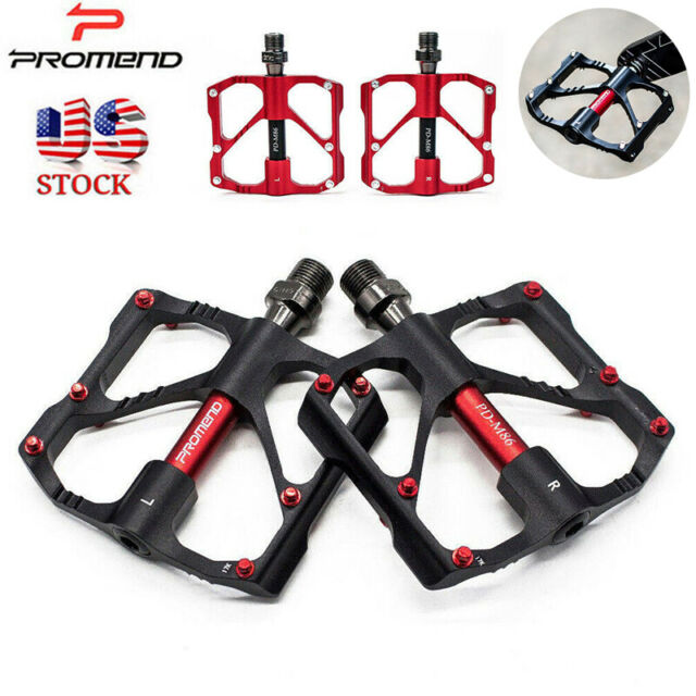 1Pair Bike Pedal 3 Bearing Cycling Mountain Road Flat Platform Plate Safety