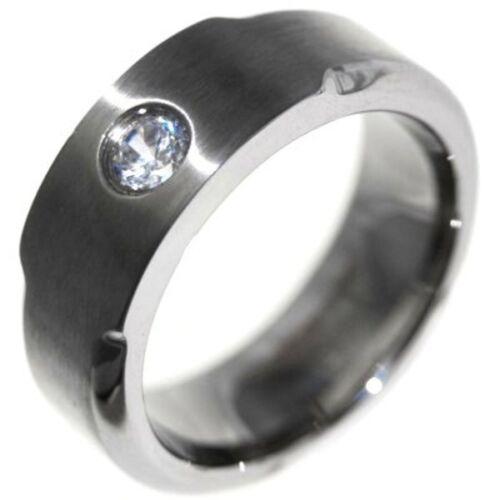 SOLITAIRE Titanium RINGS size 9,11,12 0.40CTW BRILLIANT CUT STONE