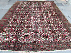 Large-Old-Hand-Made-Persian-Rug-Oriental-Wool-Brown-Carpet-Rug-371x294cm