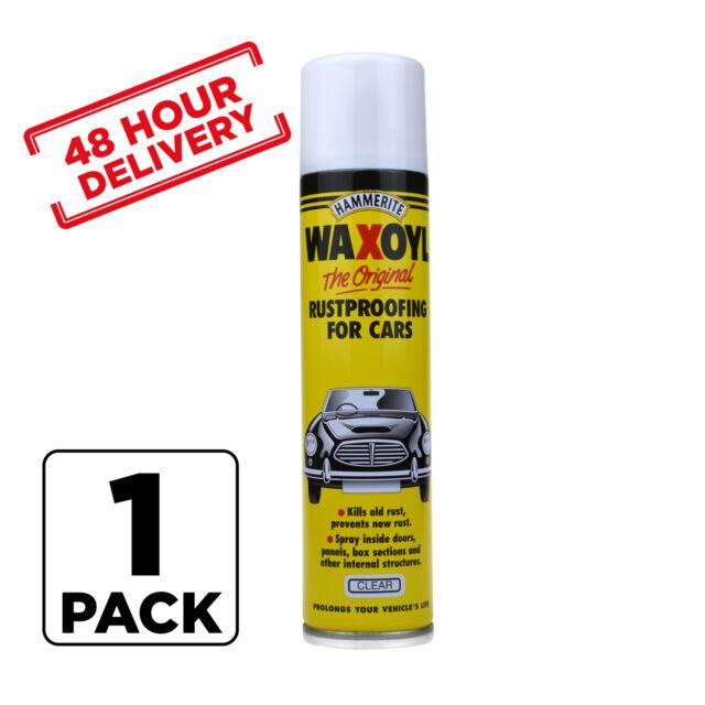 CLEAR Hammerite Aerosol Waxoyl Car Rust Proofing Under Seal Wax Oil 400ml x 1
