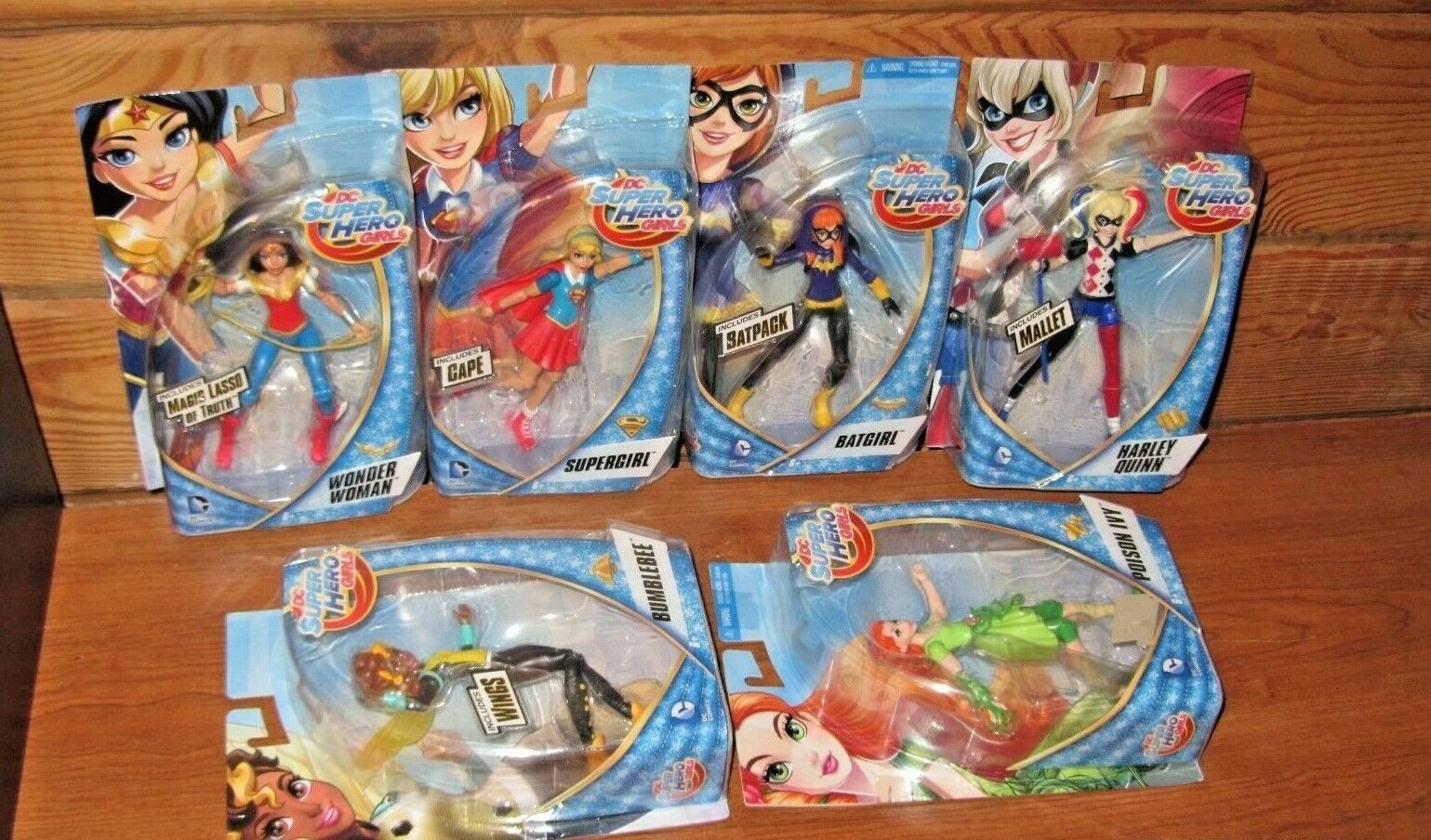 6X DC SUPER HERO GIRLS BATGIRL HARLEY IVY WONDER BEE SUPERGIRL-6  ACTION FIGURES