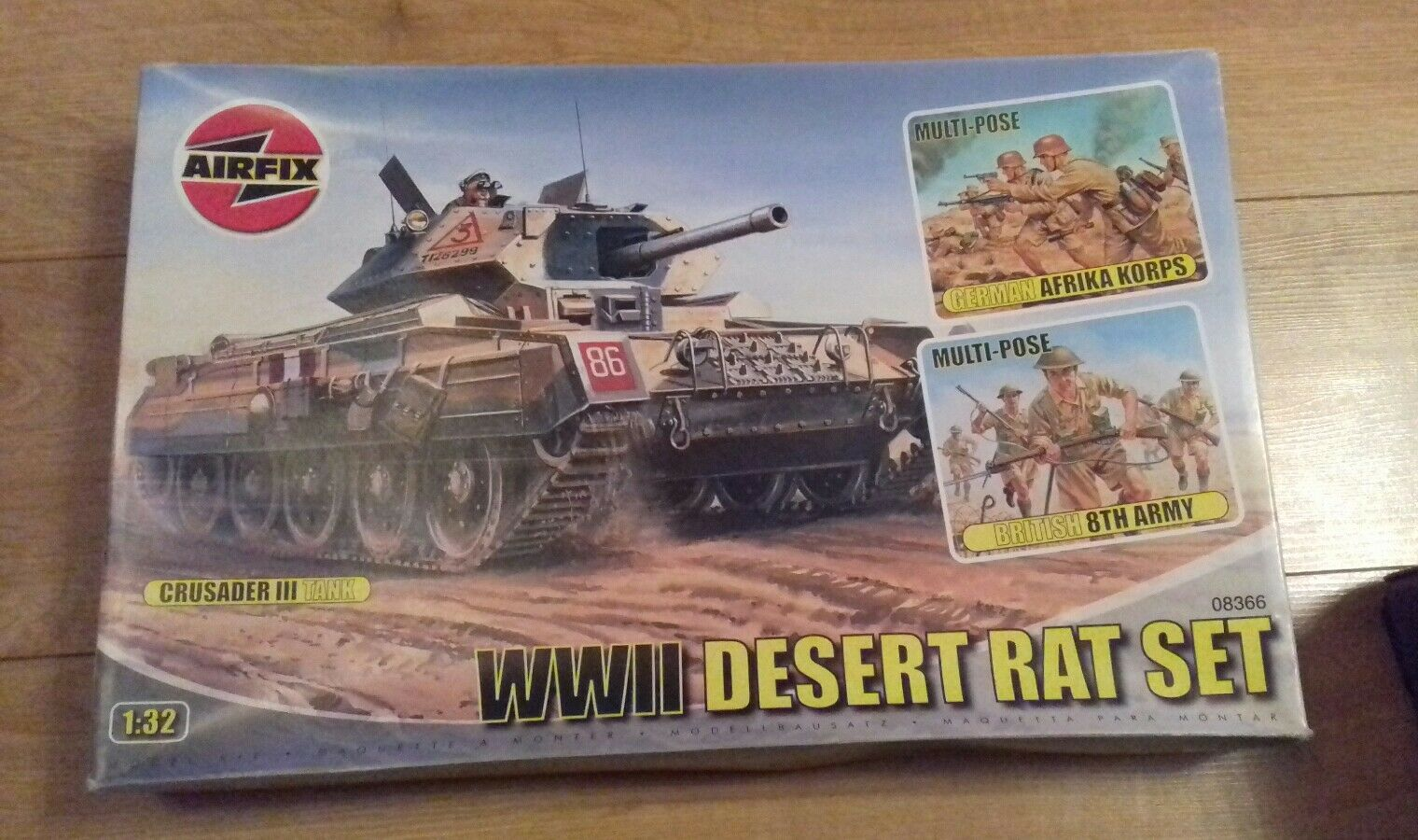 Airfix WWII DESERT RAT SET Afrika Korps and British 8th Army