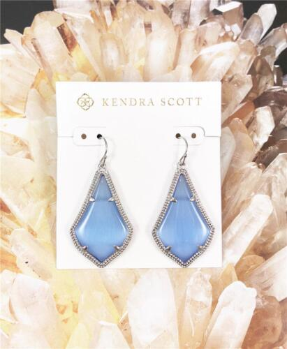 NEW Kendra Scott Alex Periwinkle Rhodium Plated Earrings