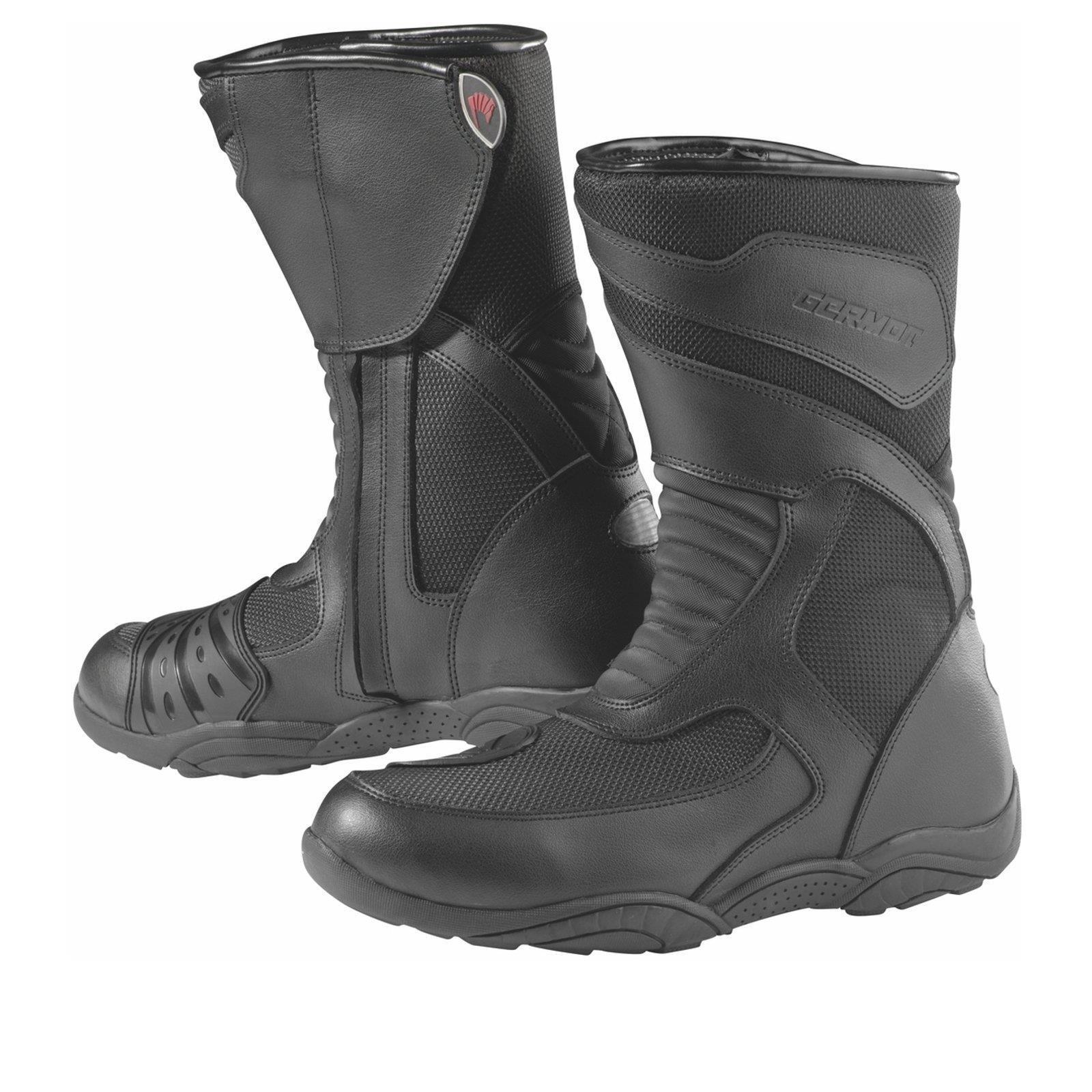 Germot Pelle Moto Stivali Tour Scarpe in Pelle Germot Nero Protezione Caviglia ORTOPEDICO 50749b