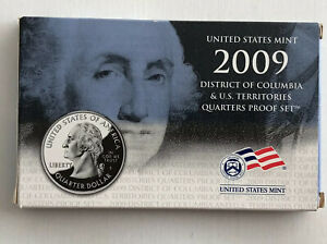2009 U.S Mint DC /& US Territories Quarters Proof Coin Set New in Box with COA