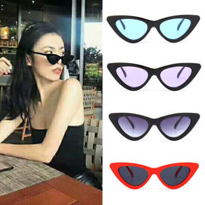 40400e1030 Image is loading Womens-Fashion-Vintage-Retro-Cat-Eye-Triangle-Sunglasses-