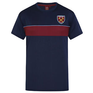 West-Ham-United-FC-Official-Football-Gift-Mens-Poly-Training-Kit-T-Shirt