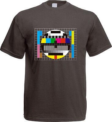 Theory TV Testbild T-Shirt The Big Bang Sheldon Computer Monitor Retro Fernseher