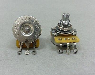CTS 500k Audio Linear Pot Potentiometer Split Solid Shaft Long No Load  -  USA