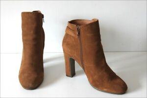 plusieurs couleurs Vente utilisation durable Détails sur SCHOLL Bottines Boots Daim Marron Clair Hauts Talons T 40 TBE