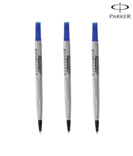 Parker Quink Refill Roller ball Medium Blue x 3