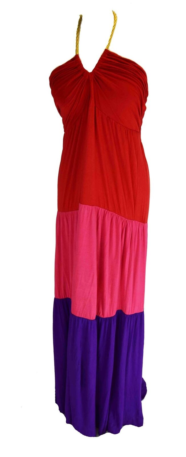 T BAGS LOS ANGELES  Multicoloured Long Tiered Dress, Medium M