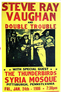 STEVIE-RAY-VAUGHAN-DOUBLE-TROUBLE-1986-PITTSBURGH-SCARCE