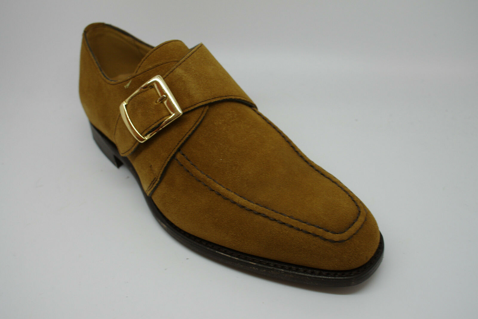 Barker Cannon Monje Zapatos en ante UK 6 FX de mostaza