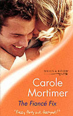 """VERY GOOD"" The Fiance Fix (Tender Romance), Mortimer, Carole, Book"