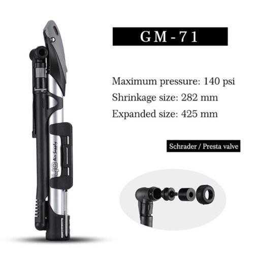 GIYO Cycling Pump 140 PSI MTB Road Bike Foldable Aluminum Mini Dual Floor Pumps