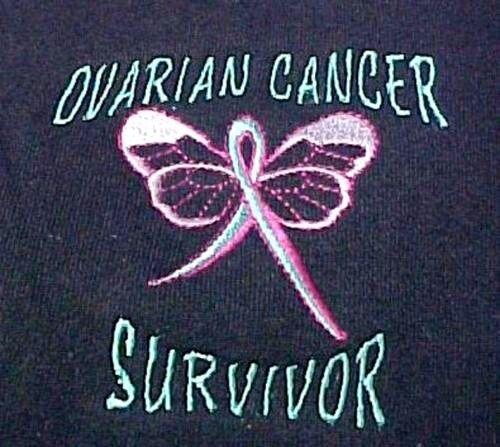 Ovarian Cancer Hoodie S Teal Ribbon Survivor Butterfly Navy bluee Sweatshirt New