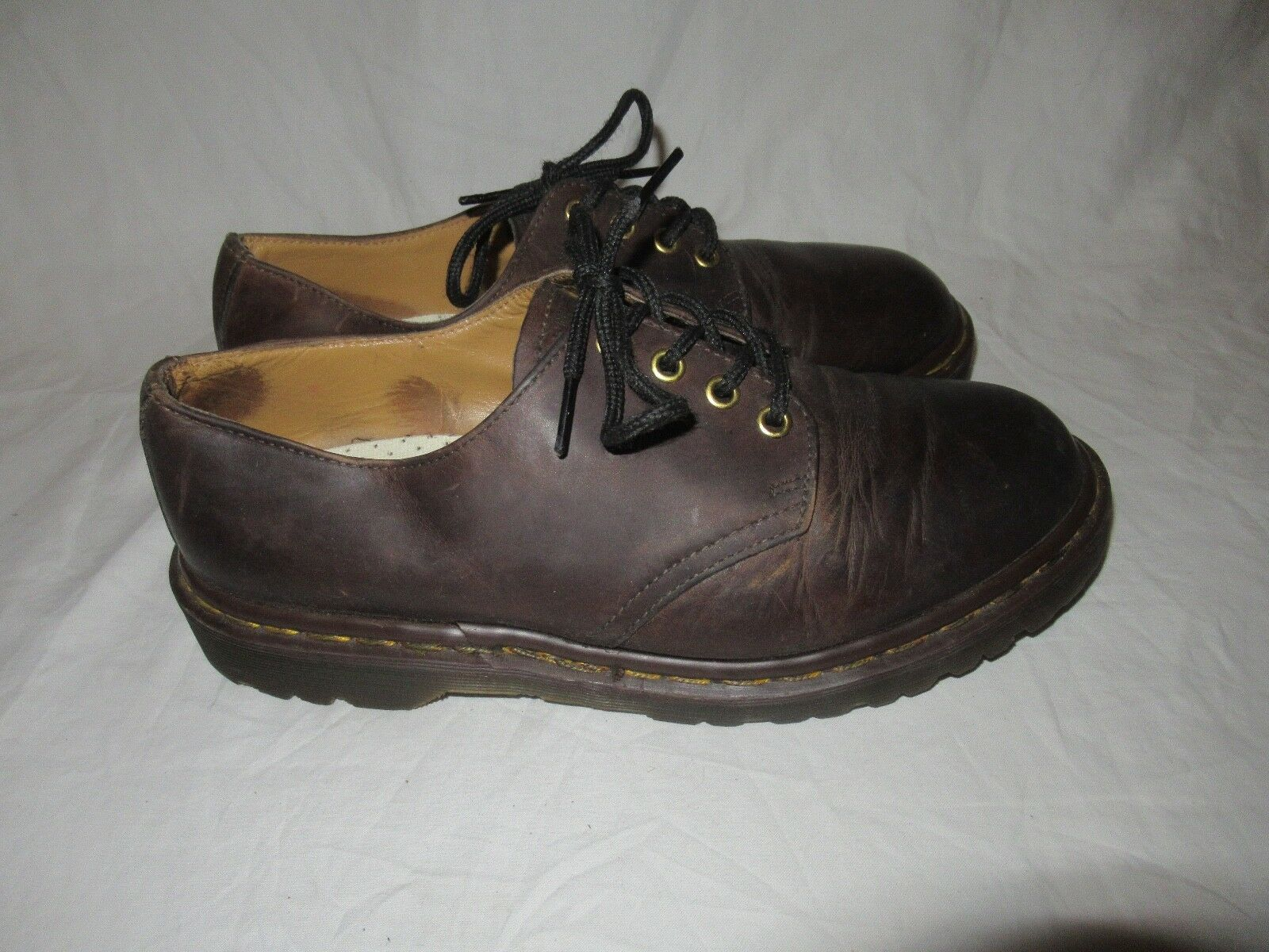 Scarpe casual da uomo  Vtg Dr Martens Docs Brown Leather Oxford Shoes uomos 9 Wouomos 10 England