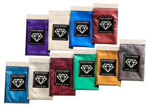 BLACK DIAMOND Mica Powdered Pigment--Variety Pack #4 *10 Colors*