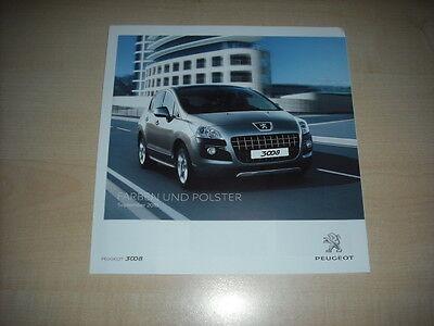 Bücher 58858 Peugeot 3008 Farben & Polster Prospekt 09/2010
