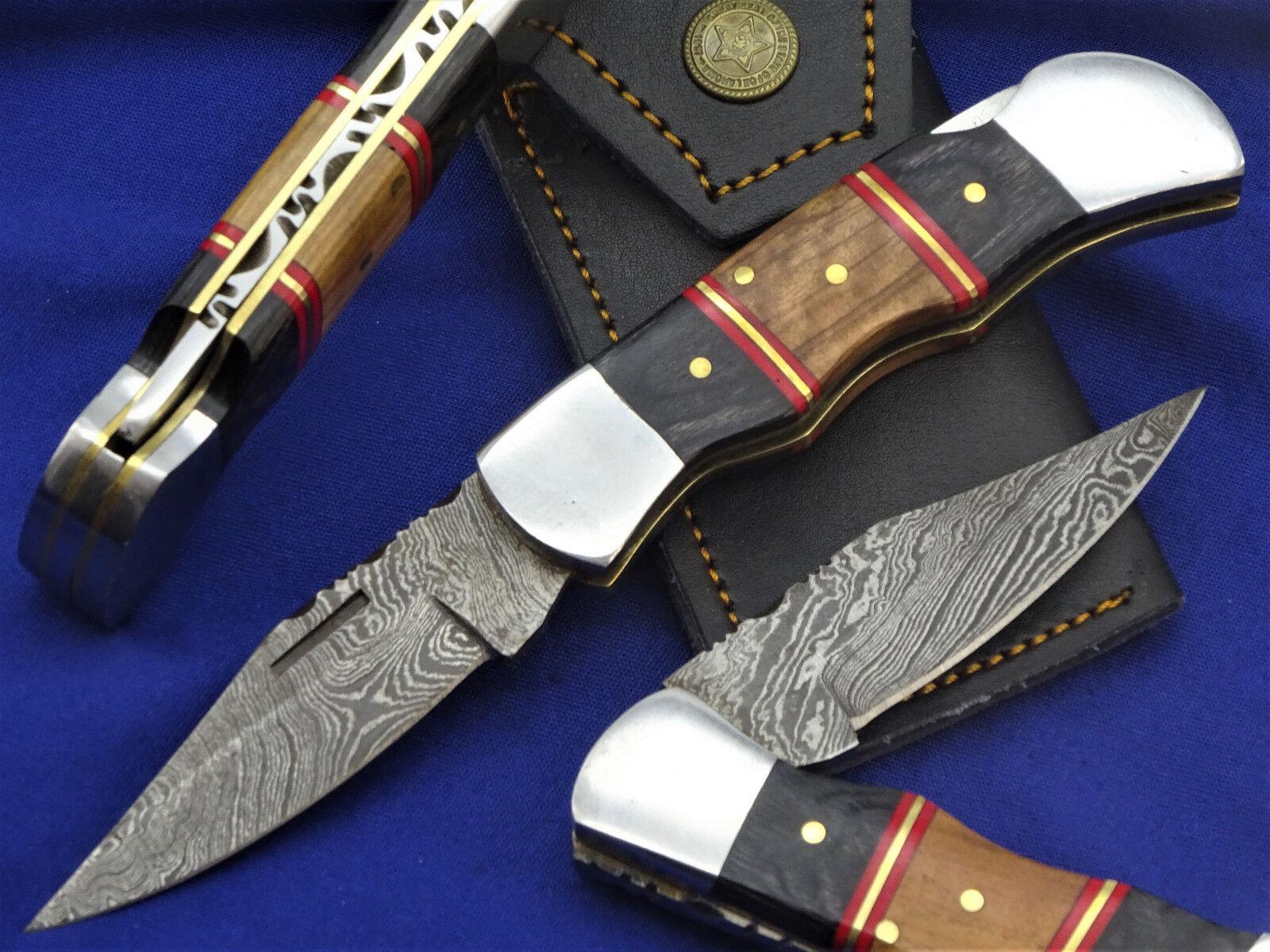 Damastmesser Taschenmesser Jagdmesser-Damast taschenmesser- Klappmesser     (B3)