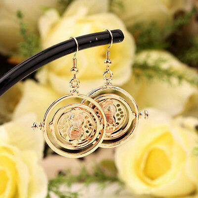 New Rotating Hermione Time-Turner Earrings Pendant Fashion GP