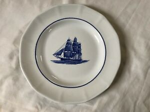 WEDGWOOD-Blue-AMERICAN-CLIPPER-Georgetown-Collection-10-1-4-034-Dinner-Plate