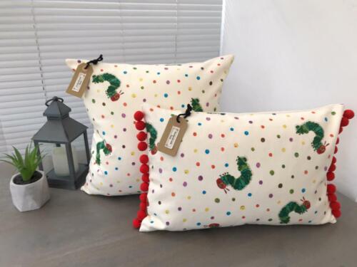 Very Hungry Caterpillar Fabric Handmade Cushion Covers