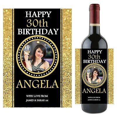 Personalised wine bottle label wine bottle label//sticker Happy Birthday