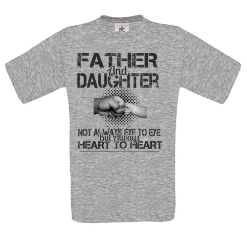 father /& daughter NOT SEE EYE TO EYE fist punch fathers day gift MENS t SHIRT