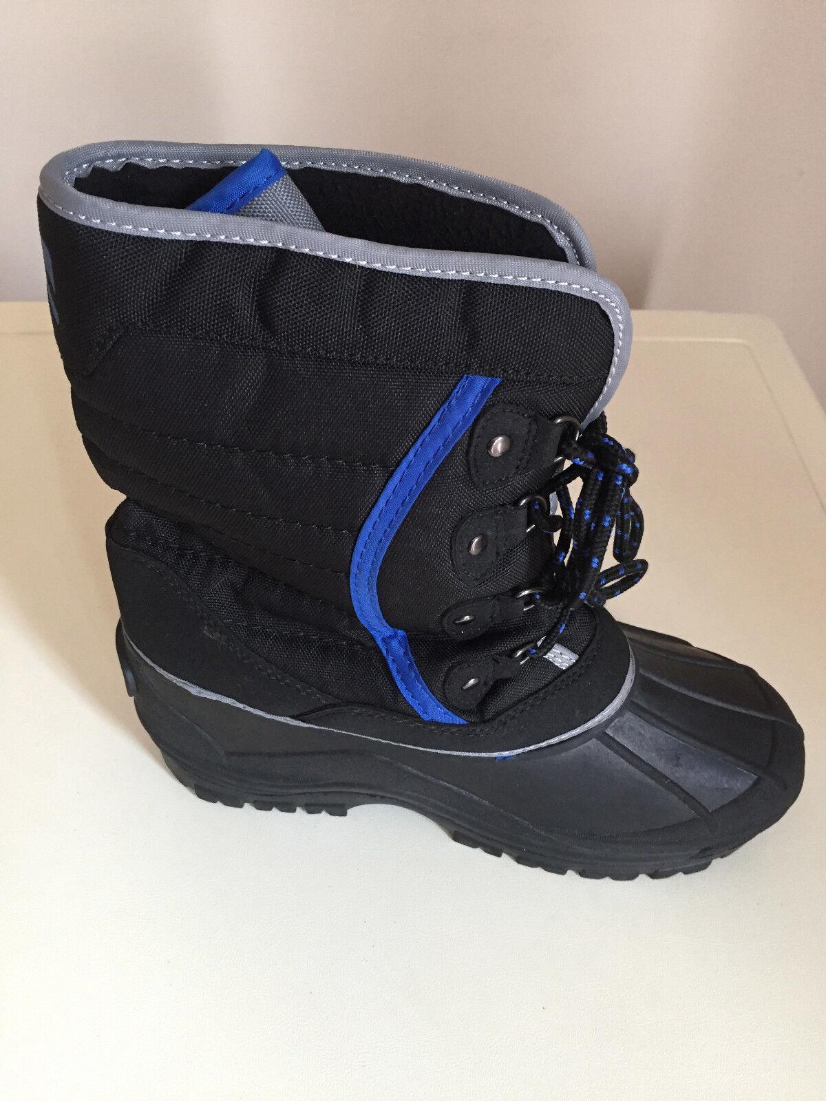 CAMPRI BLACK BLUE MEN/Boys/Girls/MEN/WOMEN Snow Boots Boots Snow Size 3 BRAND NEW bc8076