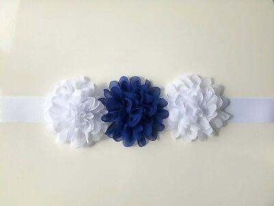 Floreale Fiore Ragazza Cintura/telaio, Bianco E Royal Bue O Scegli I Colori-mostra Il Titolo Originale Prodotti Di Qualità In Base Alla Qualità