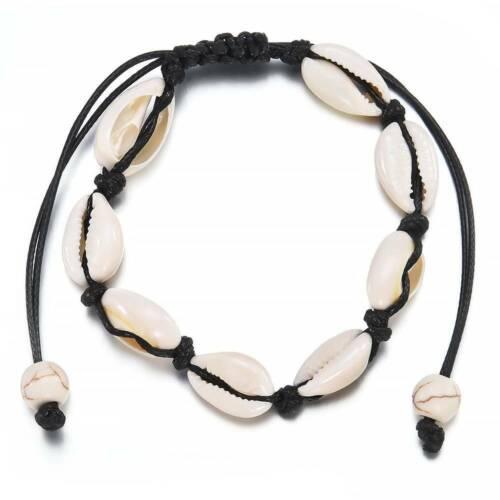 Natural Cowrie Bead Shell Anklet Bracelet Handmade Sandal Beach Barefoot Jewelry