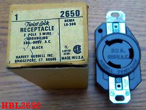 Hubbell 600VAC 30AMP Receptacle NEMA L9 30R  HBL2653  NEW!