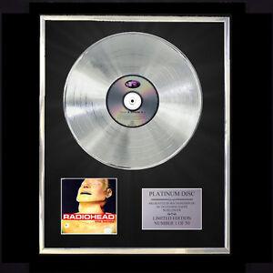 RADIOHEAD-THE-BENDS-CD-PLATINUM-DISC-RECORD-AWARD-DISPLAY-VINYL-LP-FREE-P-P