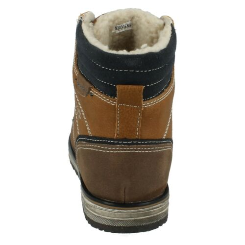 BOYS JCDEES LACE UP FUR LINED CASUAL SHOES WALKING WINTER ANKLE BOOTS N2033
