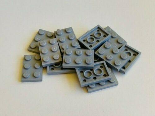 LEGO Parts 15 xPlate 2 x 3 LIGHT BLUISH GREY 3021 B5