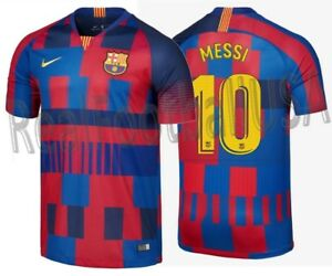 best loved b5df5 93a4b Details about NIKE LIONEL MESSI FC BARCELONA 20TH ANNIVERSARY MASHUP HOME  JERSEY 1999 -2019.