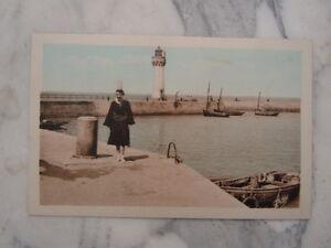 Ancienne Carte Postale De Quiberon Port Haliguen Le Phare Et La Jetée