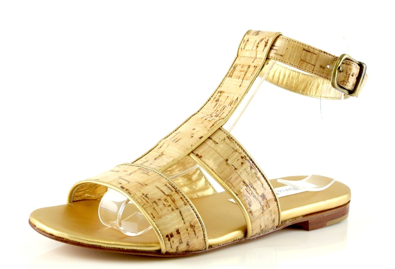 Olivia Rose Tal Gold Patent Pelle Cork Style Sandals 7033 Size 9 M NEW!